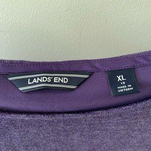 Lands' End Tops - Lands End Women's Top Purple Sz XL/18